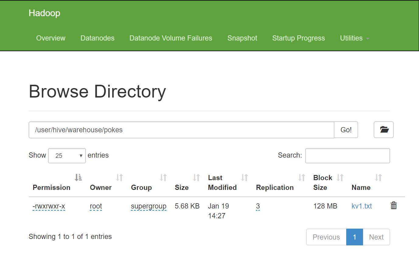 HDFS browser on namenode